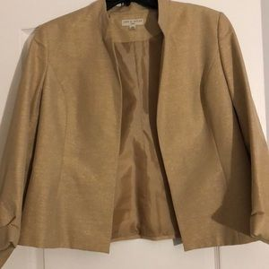 Lord & Taylor Gold Dress Holiday Jacket